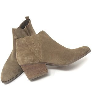 Crown Vintage Leather Suede Slip On Booties
